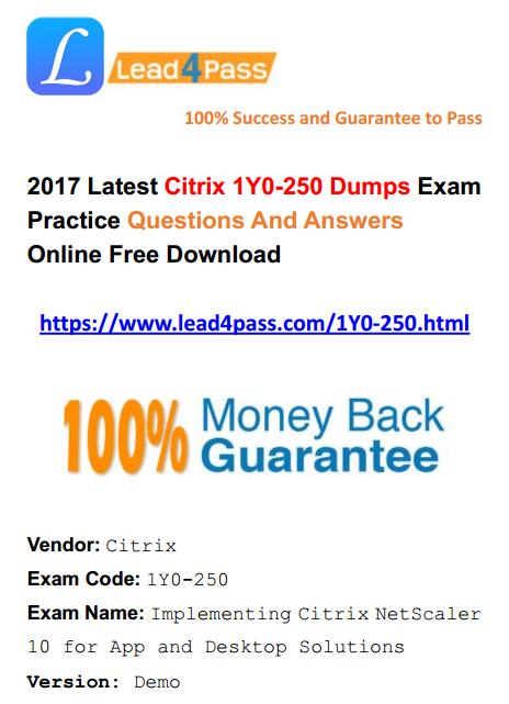 1Y0-250 dumps