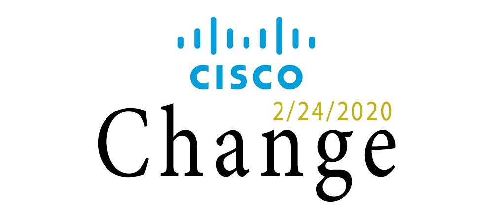 cisco change 2020