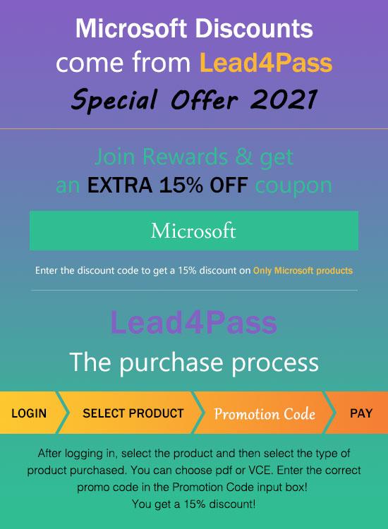 lead4pass dp-300 15% off coupon